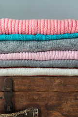 Knitted Tender Color Sweaters, vintage style
