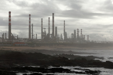 Oil refinery by the sea