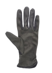 Black cloth working gloves isolated