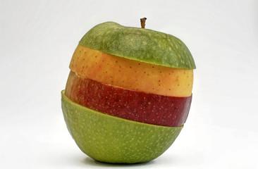 bunte Apfelscheiben