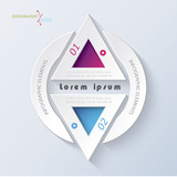 Business concept design with triangle. Infographic template