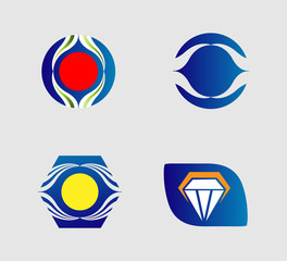 Collection of creative and abstract icon logo designs