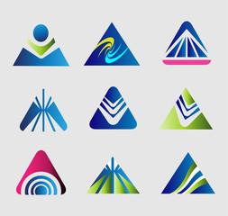 Design triangle logo vector template set