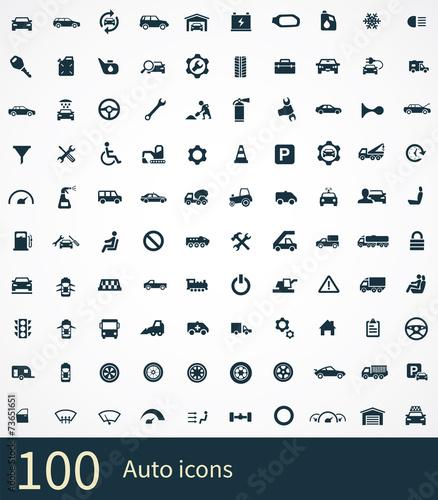 auto icon poster