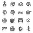 Tire service icon black - 73652855