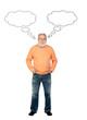canvas print picture - Senior man thinking
