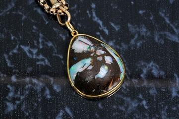 Wood opal pendant © Arena Photo UK