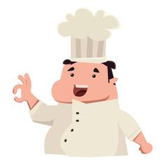 Chief chef cook in kitchen luxury restaurant