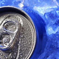 aluminum can of soda
