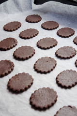 Dark Chocolate Cookies ready for cook