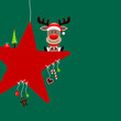 Rudolph Red Star & Symbols Candy Green
