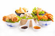 assortment of asian cuisine