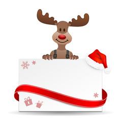 Weihnachten Schild Rentier