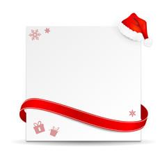 Schild Weihnachten Mütze