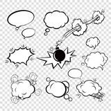 Fototapety Comic set bubbles