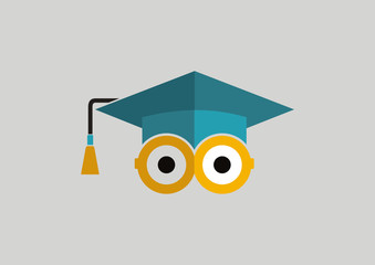 Graduate logo education illustration