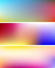 banner multicolor gradient