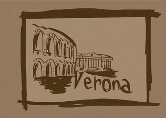 Verona sketch vintage