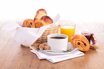 coffee cup and pastries