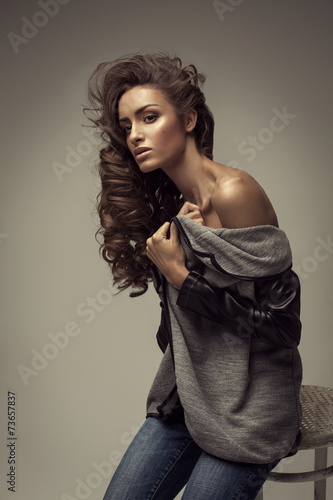 Young beautiful fashion woman