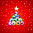 Vector christmas tree with bingo - 73658074