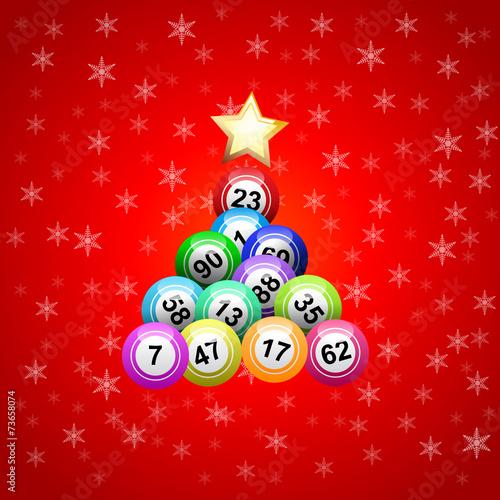 Vector christmas tree with bingo - 73658074