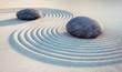 2 Steine und Wellen im Sand