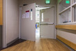 Door at corridor in a modern hospital. - 73658636