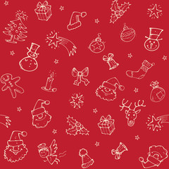 Christmas sketch pattern