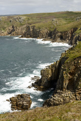 sea coastline of Land End, Cornwall