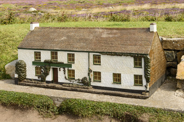 model of cottage at Land End 02, Cornwall