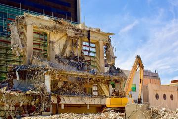 Crusher excavator machine at Site Demolition