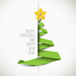 Simple vector card with christmas tree - 73659403