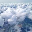 canvas print picture - Über den Wolken fliegen