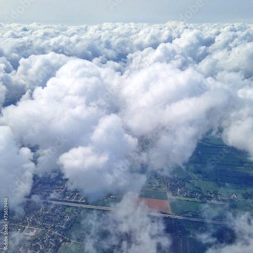 canvas print picture Über den Wolken fliegen