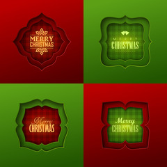Christmas frames in retro style