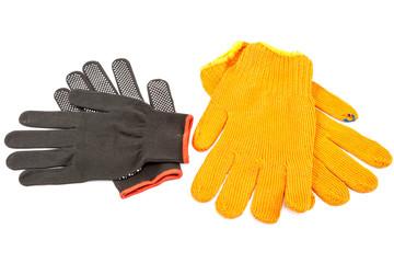 Work gloves on white background.