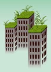 eco grass building