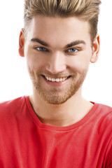 Handsome young man smiling