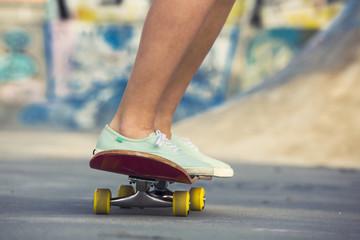 Riding a skate