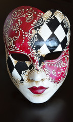 Venetian mask on a dark background