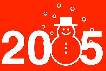 Anno nuovo 2015 con pupazzo neve