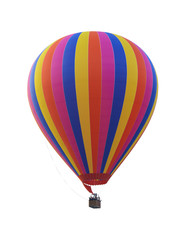 Colorful rainbow hot air balloon