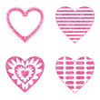 Valentine heart with patterns, set
