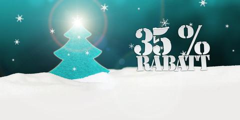 Christmas Tree 35 percent Rabatt Discount