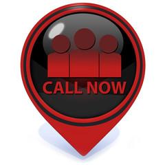 call now pointer icon on white background