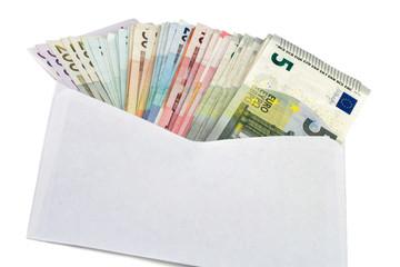 Geldscheine im Briefumschlag