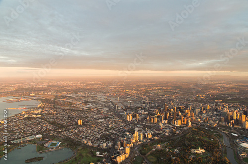 Poster Oceanië Aerial view of Melbourne