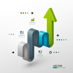Vector template for infographic and presentation