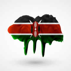 Flag of Kenya painted colors